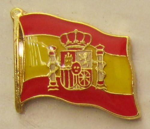 Pin Bandera de España con Escudo Bandera de Bandera Pin Badge Button Banderas Andrés: Amazon.es: Hogar