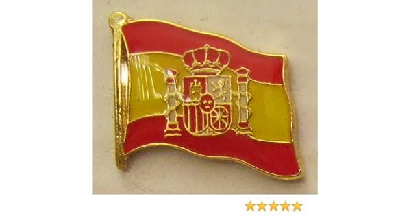 Pin Bandera de España con Escudo Bandera de Bandera Pin Badge ...