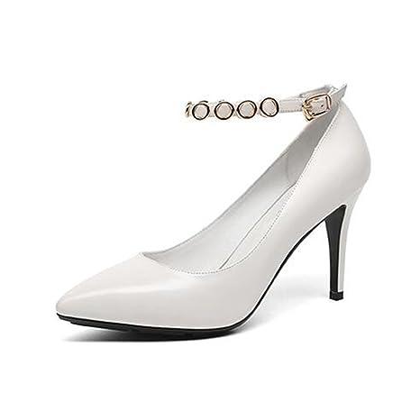 size 40 d40cd 3cc6f MUMA Scarpe col tacco Scarpe basse Scarpe femminili bianche ...