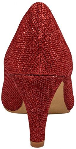 fermées Elara Elara femme Coupe fermées Rouge femme Rouge Coupe xBIWqY4