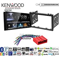 Volunteer Audio Kenwood DDX9704S Double Din Radio Install Kit with Apple Carplay Android Auto Fits 2001-2002 Mazda 626