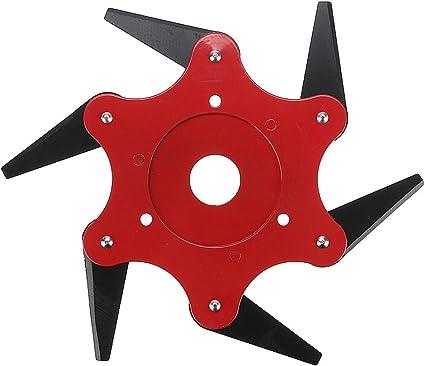 Cabeça Aparador de 11cm com 6 Lâmina De Aço Grama brushcutter Para Cortador De Grama sobressalentes