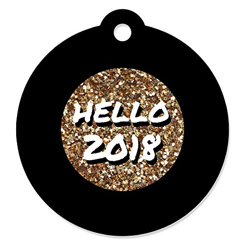 Pop, Fizz, Clink! - 2018 New Year's Eve Party Favor Gift Tags (Set of 20)