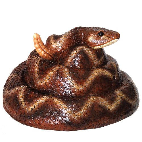 Michael Carr Designs 80073 Rattler Snake Resin Statue with Motion Activated Rattler Sound ()