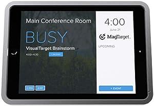Visual Target (Kronos) – Slim Enclosure for iPad Mini 4 (Silver, Wired Ethernet (Data+Power) – Premium / 0 Degree/Glass Mount (Glass Mount + Glass Adhesive Set)