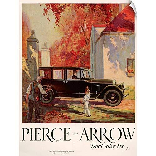 CANVAS ON DEMAND Wall Peel Wall Art Print Entitled 1920's USA Pierce-Arrow Magazine Advert 23