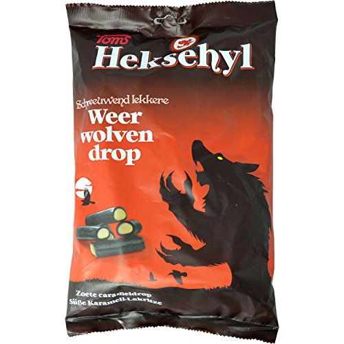 Toms Heksehyl Weerwolvendrop 1000g - Licorice with confectionery filling