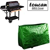"""Toucan Heavy Duty Waterproof BBQ Large Grill, Kiln Cover for Outdoor Garden Patio Barbecue Griller covers with High Density, Weatherproof, Dustproof made of Polyethylene Size: W: 124cm(49"""") x D: 73cm(29"""") x H: 90cm(36"""") Best Quality Eyelets Nylon Cords Protect Kettle from Windy Weather give you Breathable Protection & Resist Coal Ash( Green)."""