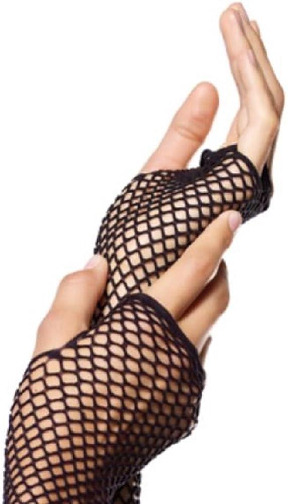 Leg Avenue Damen Triangel Netzhandschuhe Fingerlos in schwarz Einheitsgr/ö/ße