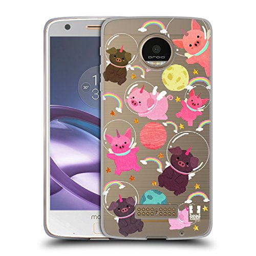 - Head Case Designs Pig Space Unicorns Soft Gel Case for Moto Z Force/Z Force Droid