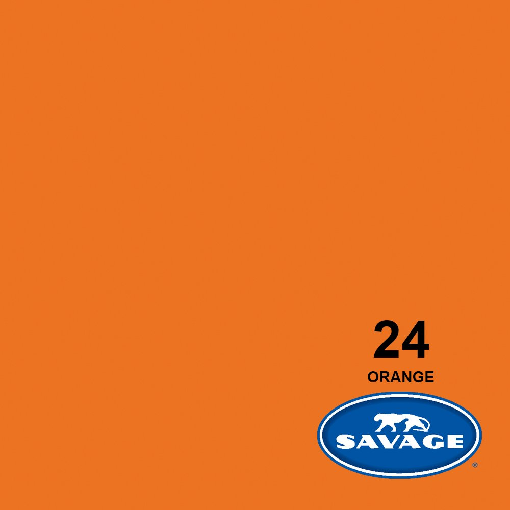 Savage Seamless Background Paper - #24 Orange (107 in x 36 ft) by Savage (Image #2)