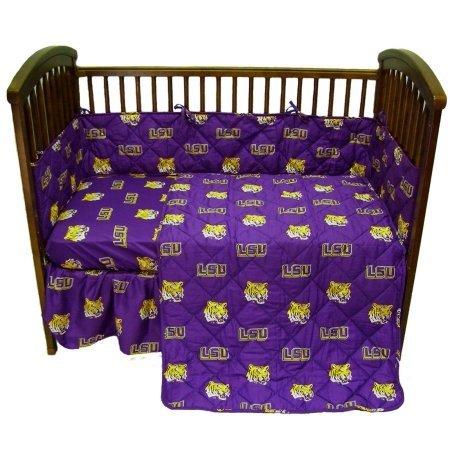 Comfy Feet LSUCS LSU 5 piece Baby Crib Set - Lsu Crib Set