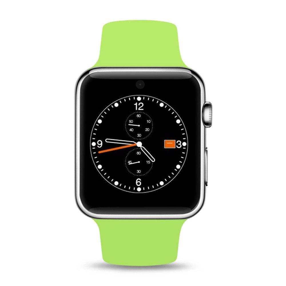 Vert Appel de la montre intelligente, vue complète IPS 1,54 écran ajustement complet lecture de musique compatible complète relance intelligente contrôle de l'état de santé 128 Mo + 64 Mo de mémoire,blanc
