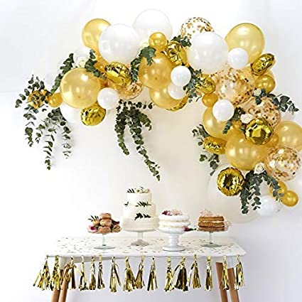 Wedding Helium Balloons Venue Table Decorations Printed White Silver Party Pack
