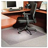 ES Robbins EverLife Anchor Bar Rectangle Chair Mat for Low Pile Carpet, 46 by 60-Inch, Clear