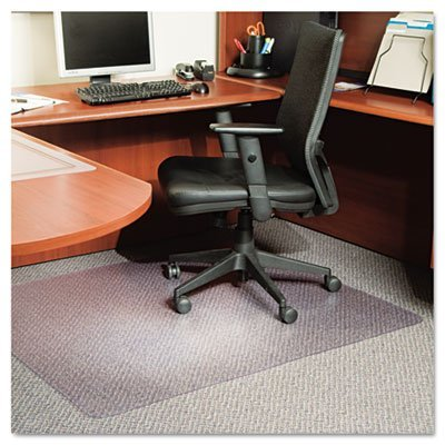 ES Robbins EverLife Anchor Bar Rectangle Chair Mat for Low Pile Carpet, 46 by 60-Inch, Clear by ES Robbins