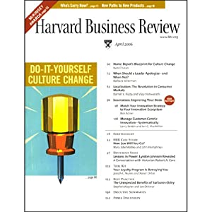 Harvard Business Review, April 2006 Audiomagazin
