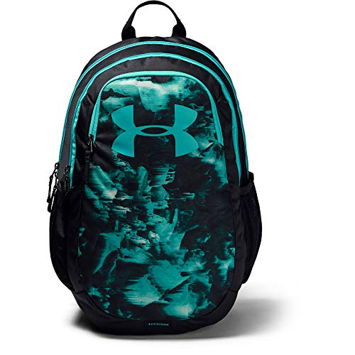 Under Armour unisex-adult Scrimmage Backpack 2.0, Black (003)/Breathtaking Blue, One Size Fits All ()