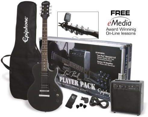 Pack Epiphone Guitar LP Special II LTD Ebony et ampli electar 15R ...
