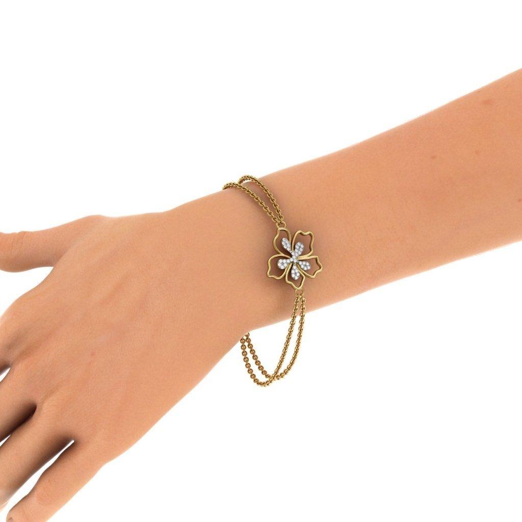6.25 inches 18K Yellow Gold 0.175 cttw Round-Cut-Diamond identification-bracelets Size IJ| SI