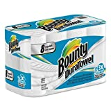Bounty 84890 DuraTowel Paper Towels 2 Ply - 11'' x 9.10'' White Paper Disposable For Kitchen - 53 Sheets - 8 / Pack