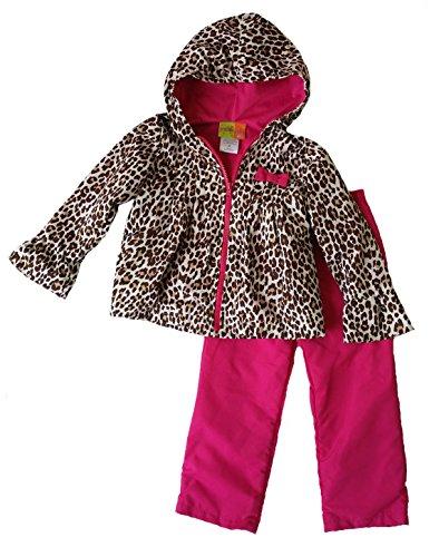 Penelope Pant - Penelope Mack Toddler Little Girls' Animal Print Hooded Warm-Up Jacket & Pant Set (6X, Brown)