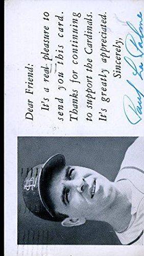 Paul Lapalme Signed Cert Sticker Dear Friend Gpc Autograph - JSA Certified  - MLB Cut Signatures be97298e9