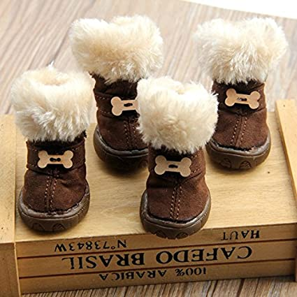 non slip winter dog boots