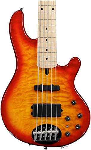 Lakland Skyline Series 55-02Q 5-Strings Bass Guitar, Cherry Sunburst