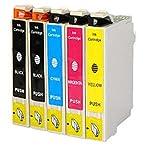O'Image 5-Pack 220 T220XL Ink Cartridge Replacing for Epson Expression XP-320 420 424 WorkForce WF-2630 WF-2650 WF-2660 Series Printers (5-Pack: 2K/1C/1M/1Y)