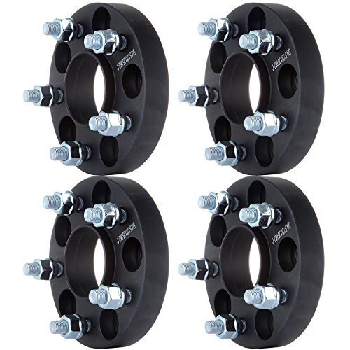 SCITOO 1 inch Wheel Spacers Adapter hub Centric 5 Lug 4X 25mm 5x4.5 to 5x4.5 |5x114.3 to 5x114.3 66.2mm Fits for Nissan Maxima Altima Infiniti Q45 M30 M45 12x1.25 Studs