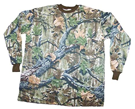 2e7878e1dcf02 Amazon.com : Clarkfield Outdoors Big & Tall Camo Long Sleeve Hunting  T-Shirt : Sports & Outdoors