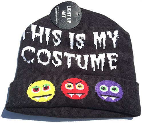 This is My Costume Halloween Beanie Knit With Light Up Eyes