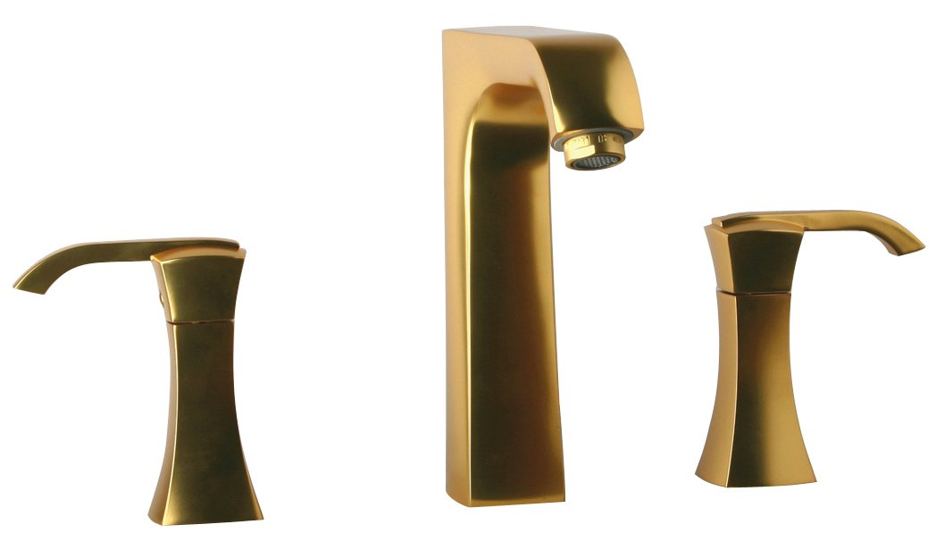 La Toscana 89OK214 Lady 8-Inch Widespread Lavatory Faucet with Pop-Up Drain, Gold Satin by La Toscana