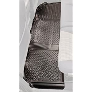 Husky Liners 65101 Fits 1995-04 Toyota Tacoma Access Cab Classic Style 2nd Seat Floor Mat, Black
