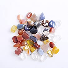 Hongjintian 1lbs Natural Multi Crystal &Gemstone Tumbled Rocks Polished Gravel Stones - 0.75Inch to 1.2Inch Avg.