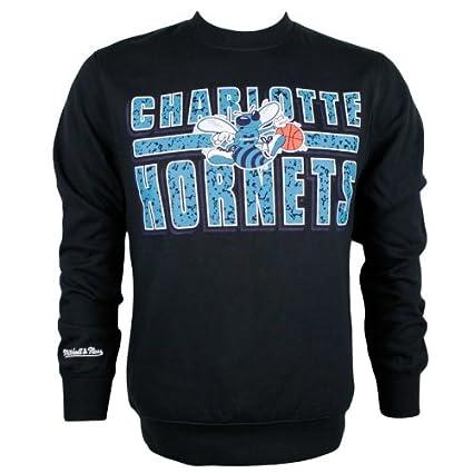 3c9d6095e9bcfb Mitchell & Ness - Felpa Charlotte Hornets con collo a lupetto, collezione  NBA
