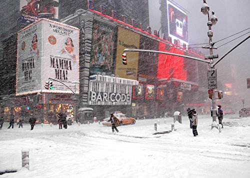 New York Christmas Holiday Cards Snow Blizzard on Times Square Boxed 12 Pack of 5x7 Cards Envelopes Included. Greeting Cards Collection Christmas in New York