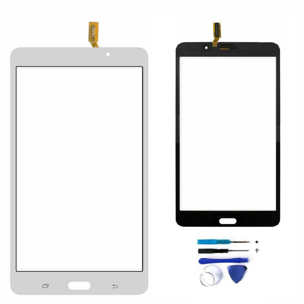 Touch Screen Digitizer Replacement for Samsung Galaxy TAB 4 7.0'' T230 T230NY T230NU T230NT WIFI with Tools (White) NO Earpiece Hole