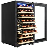 AKDY 38 Bottles Single Zone Built-in Compressor Touch Control Panel Freestanding Electric Wine Cooler