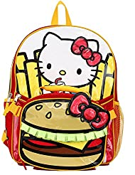 Hello Kitty Burger & Fries 16 Backpack and Insulated Lunch Bag - Kids