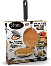 Gotham Steel Bonanza Nonstick Copper Double Pan – Easy Delicious Perfect Fluffy Pancakes Every Time with Absolutely No Clean Up, As Seen on TV, Large