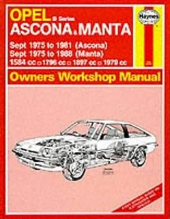 opel manta owner s workshop manual haynes owners workshop manuals rh amazon co uk Opel GT 1973 Opel GT