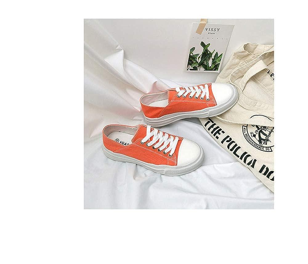 zuopingfang Women Candy Color Sneakers Spring Summer Shoe Girls Casual Sneaker Canvas Shoe