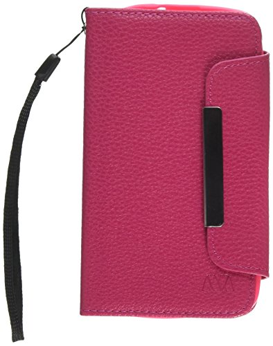 Asmyna My Jacket Wallet Case for LG MS323 Optimus L70 - Retail Packaging - Hot Pink (Lg L70 Optimus Phone Case)