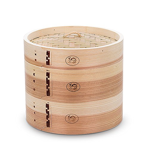 HUANGYIFU Chinese 7-12 Inch Handmade Food Wooden Steamer 2 Tiers Deep Wooden Basket - for Dumpling Dim - Start With That Famous Brands Y