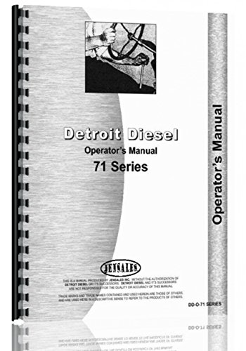 Operators Manual Detroit Diesel In Line 71 Series Engine ()