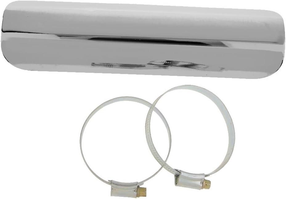 Silencer Heat Protection perfk Universal Exhaust Heat Shield Automotive Silver Exhaust Muffler Pipe Heat Insulation Heel Guard