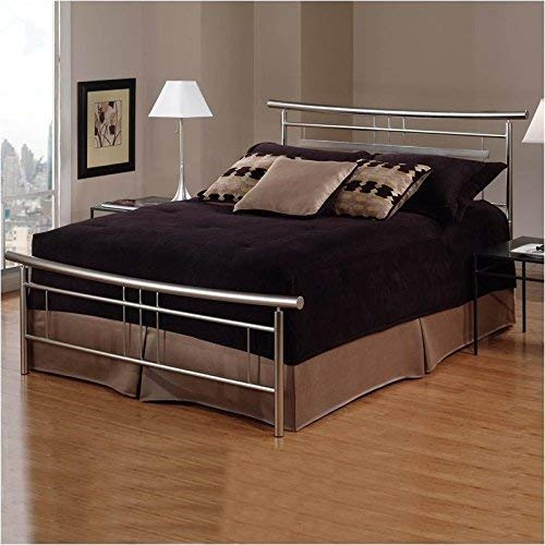 Soho Bed Headboard - Hillsdale Furniture 1331BFR Soho Bed Set with with Rails, Full, Brushed Nickel