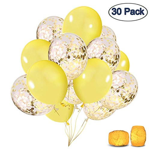 COOLOO Confetti Balloons, 30 Pack Premium 12'' Latex